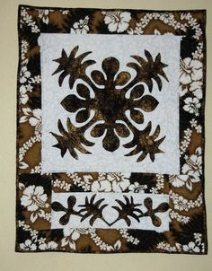 Coconut and Palm Hawaiian Quilted Wall Hanging by stitchnquilt
