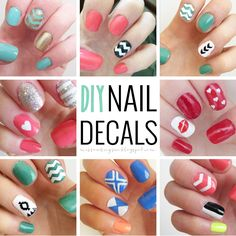 Diy Nail Art Decals Silhouette File Nails Stickers