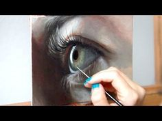 Oil Painting Time Lapse | Realistic Eye + about my art show - YouTube