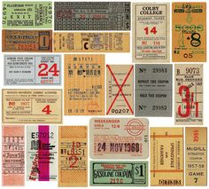 vintage tickets from Paper is Lovely http://paperislovely.tumblr.com/ #collections #tickets