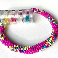 Another bead crochet collar fusia and multicolor beads it almost look like some candy mmm  soon in my @etsy shop #fusia #fusiapink #beaded #collar #crochet #multicolor #beadwork #etsy #handmade #handcrafted #handmadejewelry #handmadelover #giftidea #giftforher #handmadejewelry #jewelry #jewellery #forsale #etsyseller #etsyshop #etsyelite #etsylove #necklace #boldnecklace #chunkynecklace #glassbeads #beadcrochet