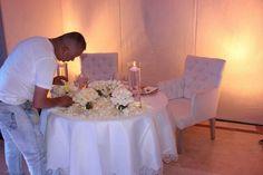 Mesa intima boda
