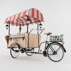 Pizza Station, Coffee Carts, Bike Coffee, Coffee Food Truck, Bike Cart, Bike Food, Adult Tricycle, Velo Vintage, Human Figure Drawing