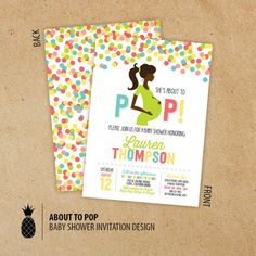 About To Pop Baby Shower Invitations by PPDesignCo on Etsy