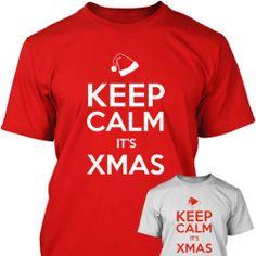 KEEP CALM IT'S XMAS - Funny Mens T SHIRT - Christmas 2013 - Gift - Secret Santa