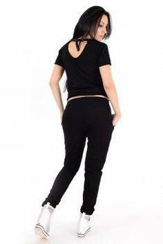 Trening Dama Negru Cu Alb Online Shopping For Women, Black Jeans, Clothes For Women, Pants, Fashion, Outerwear Women, Trouser Pants, Moda, Fashion Styles