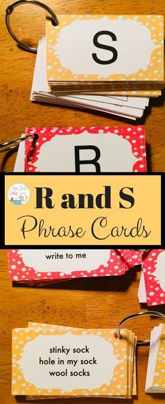 Here is a very handy set of articulation phrase cards to use in speech therapy. You can target articulation of R and S words in phrases as task cards. Great to use with your favorite games while working with your elementary, middle school or older kids who can read. Just print and cut apart to make your own deck! Inexpensive so get your today just click!