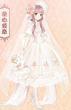 定做 暖暖环游世界 奇迹暖暖 童心爱恋 婚纱lolita洋装 cosplay