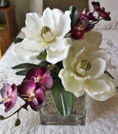 Magnificent Magnolias  Home Decor Silk Floral by BrandyByDesignLtd, $60.00