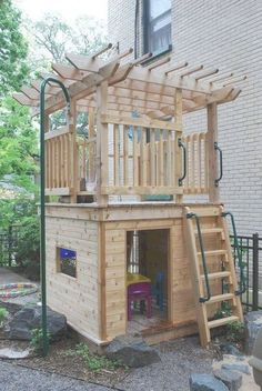 BACKYARD KIDS DESIGN IDEAS FOR SUMMER PLAYGROUND Create a fun and exciting backyard playground for your child or your daycare for free or for few dollars! You don't need expensive toys and fancy equipment to have an outdoor play area… Continue Reading → Backyard Fort, Backyard Playhouse, Build A Playhouse, Backyard Playground, Backyard For Kids, Playground Kids, Pallet Playground, Pallet Playhouse, Playground Flooring