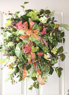 creative wedding door wreaths | Visit etsy.com