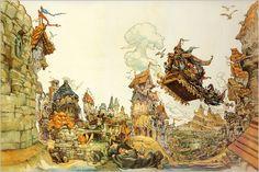 Discworld - Terry Pratchett. Art by Josh Kirby