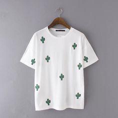 Barato Novo 2016 verão mulheres t shirt do bordado O pescoço manga curta Casual Fit simples Tops Camisetas Femininas 32906, Compro Qualidade Camisetas diretamente de fornecedores da China: