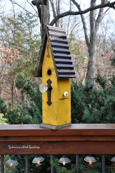 """Rustic Birdhouse ~ """"The Loft"""" by RebeccasBirdGardens on Etsy"""