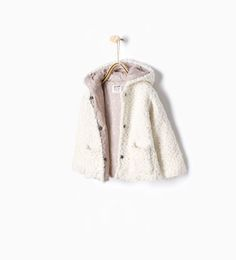 Knitted three quarter length coat with hood-Cardigans and Sweaters-Baby girl (3 months - 3 years)-KIDS | ZARA United States