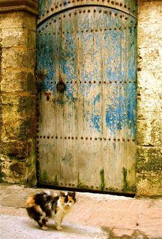 Old door in Essaouira.