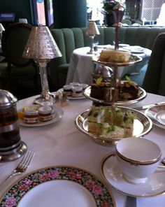 "afternoon tea (photo taken at The Polo Lounge in The Beverly Hills Hotel).not allowed to take photos here.but saw Ron Jeremy play the harmonica to ""When the Saints go Marching in"".of course right after my wedding day and my son's birth. Beverly Hills Hotel, The Beverly, Hollywood Party, Vintage Hollywood, From Rags To Riches, Tea Sandwiches, Afternoon Tea, Tea Time, Birth"