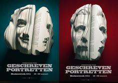 """Geschreven Portretten"" campaign created by Van Wanten Etcetera for the Dutch Book Week."