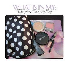 What is in my: Everyday Make-up Bag. Some Make-up items I carry on a daily basis.   http://luvabellcouture.blogspot.com