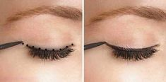 Night Makeup For Green Eyes - Beauty Styles How To Apply Mascara, How To Apply Makeup, Makeup Tricks, Makeup Ideas, Winged Eyeliner, Pencil Eyeliner, Body Makeup, Eye Makeup, Eyeline Makeup