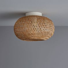 This ceiling light features a bamboo shade that will look great whether your light is on or off and it is ideal for adding a tropical look to your room. Ceiling Fans Without Lights, Recessed Ceiling Lights, Chandelier Ceiling Lights, Ceiling Pendant, Bamboo Ceiling, Floor Lamp Shades, Floor Lamps, Floor Standing Lamps, Light In