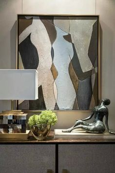 Living room decor and style ideas: Ready to start creating your own living room design and style? Discover living room tips and design inspiration from a variety of living rooms, such as color, decor and theme. Check the webpage to read more. Modern Interior Design, Contemporary Design, Modern Art, Wal Art, Decoration, Sculpture Art, Living Room Decor, Living Rooms, Living Area