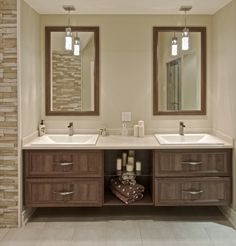 Creative Home, Double Vanity, House Design, Cabinet, Interior Design, Bathroom, Houses, Home Decor, Decorations