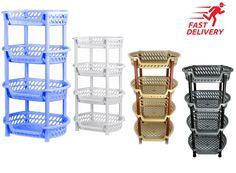 4 Tier Vegetable Rack Basket Fruit Rack Basket Holder Kicthen Storage Plastic | eBay