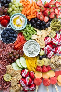 Ultimate Back to School Party Platter from Weelicious.com Grazing table ideas and inspiration. Setting up a grazing table How to. Healthy platter