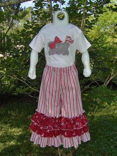 Bama Tripple Ruffle Pants Outfit