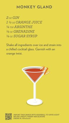 Aviation Cocktail, created with Highball. Cocktail Shots, Wine Cocktails, Classic Cocktails, Bar Drinks, Cocktail Recipes, Alcoholic Drinks, Beverages, Gold Drinks, Refreshing Drinks