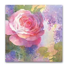 Courtside Market Pink Watercolor Roses I Gallery-Wrapped Canvas ($30) ❤ liked on Polyvore featuring home, home decor, wall art, pink home decor, stretched canvas, watercolor wall art, pink canvas wall art and pink wall art
