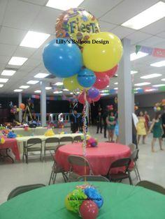 Fiesta Balloon centerpice