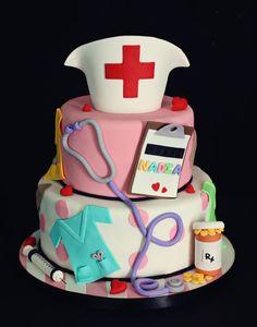 Tarta especial para enfermeras.