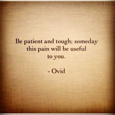 I've lived with this disease and learned a lot. I love this quote.