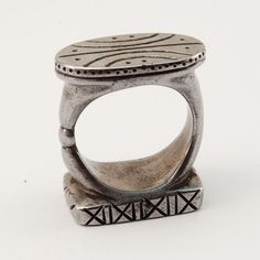 EMPIRE double seal ring  iron by BlindSpotJewellery on Etsy, $310.00