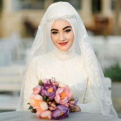 #wedding #hijab #gown