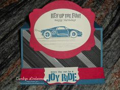 Carolyn's Card Creations: Happy Birthday, Neil - Rev Up the Fun Birthday Easel Card with Washi tape