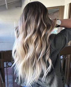 63 stunning examples of brown ombre hair - Hairstyles Trends Ombre Hair Color, Hair Color Balayage, Blonde Balayage, Blonde Hair, Ashy Blonde, Blonde Ombre, Platinum Blonde, Hair Colour, Hair Inspo