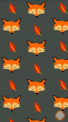 Hello September Autumn Fox iPhone Home Wallpaper @PanPins