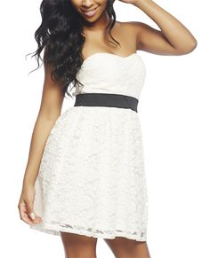 White Tube Lace Dress White Tube Lace Dress