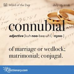 connubial - Word of the Day | Dictionary.com