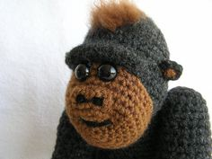 BABY GORILLA PDF CROCHET PATTERN by bvoe668 on Etsy