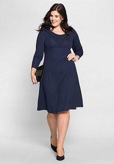 Kleid mit Spitze ♥   sheego Style   Plus Size Mode