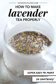 Lavender tea is an herbal drink made from dried lavender flower buds. See the proper way to brew this floral beverage, hot and cold. Making Herbal Tea, Making Iced Tea, Lavender Drink, Iced Tea Recipes, Drink Recipes, High Tea Food, Lavender Recipes, Chamomile Tea, Flower Tea