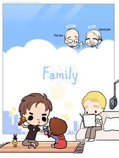 superfamily+tumblr   peter:dadadadadadada!:3 [baby language]