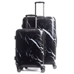 Astyll 2-Piece Luggage Set in Midnight Marble | NYLON SHOP