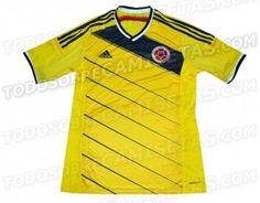 Será esta a camisa da Colômbia para a Copa? - http://www.colecaodecamisas.com/possivel-camisa-da-colombia-copa-2014/