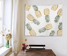 Pineapple tapestry wall decoration - dorm room tapestry