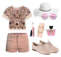 """""""Cute"""" by oanaciobanu on Polyvore featuring Needle & Thread, David & Young, Clarks, GUESS, Avon, ZeroUV and Michele"""